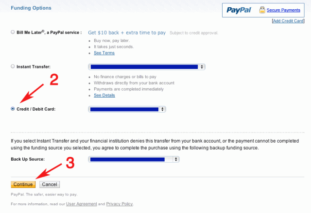 Two more steps to change my PayPal funding source
